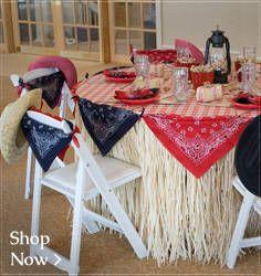 Raffia Table Skirts