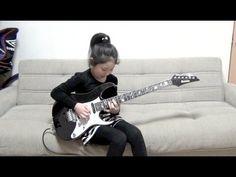 "Guthrie Govan ""Rhode Island Shred"" Cover / Li-sa-X (Japanese 9 year old girl) - YouTube"