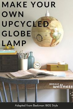 687a85cd7d7 This DIY project is positively illuminating. Make your own globe lamp  tutorial…