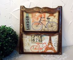 idea for message board: Arte Country, Craft Items, Painting On Wood, Stencils, Projects To Try, Scrapbook, Bike, Frame, How To Make
