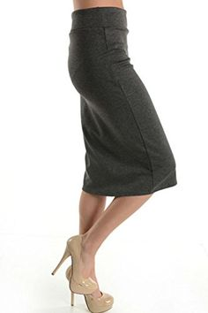 a609372829185 Azules Women s Below the Knee Pencil Skirt – Made in USA