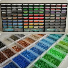 All (new) colors sorted and labeled.  It also was an inventory. I'll have to refill some colors, after that I can start some bigger projects.  #bügelperlen #perler #hama #nabbi #artkal #bead #beads #artkalbeads #perlerbeads #fusebeads #hamabeads #nabbibeads #pixelart #beadart #inventory #colors