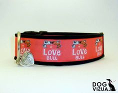 "collar for medium and large breed ""Love Bull"""