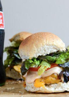 Roasted Jalapeño Cheddar Turkey Burgers with Smoky BBQ Aioli | howsweeteats.com