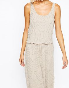 Selected | Selected Calissa Beaded Strap Maxi Dress at ASOS