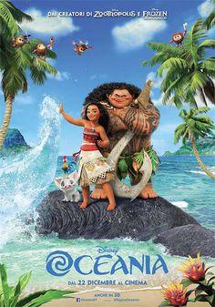 """MERCOLEDI' CINEMA: """"OCEANIA"""" Il nuovo film d'animazione Disney"""