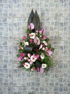 rouwstukje paars roze wit
