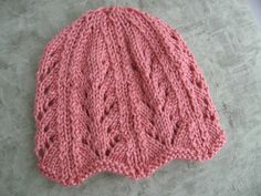 Ribbing And Lacy Chemo Caps For Straight Needles By Heather Tucker - Free Knitted Pattern - (ravelry) hat pattern free straight needles Ribbing and Lacy Chemo Caps for Straight Needles Beanie Knitting Patterns Free, Knitting Machine Patterns, Baby Hats Knitting, Knit Patterns, Free Knitting, Knitted Hats, Chemo Caps Pattern, Easy Knit Hat, Knitting For Charity
