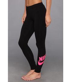 Nike leg a see logo legging black pink foil cd6f2633e9f
