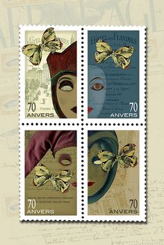 I love postage stamps! By Renee Pearson #collage #art