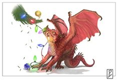 Christmas Dragon! by LyntonLevengood.deviantart.com on @deviantART