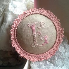 Monogram with crochet frame