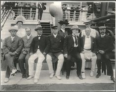 Senators and wives aboard SS Manchuria. Photo by Burr McIntosh.