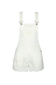 #dungarees #crochet #lace #white #short #shorts #TALLYWEiJL #newin