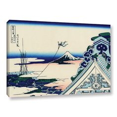 Found it at AllModern - Asakusa Honganji Temple in the Eastern Capital by Katsushika Hokusai Painting Print on Gallery Wrapped Canvas