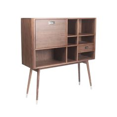 Add storage without sacrificing your swanky modern style with this Highball Cabinet.  Equipped with multiple compartments for stowing away cocktail glasses, bar accessories, books, or anything you want...  Find the Highball Cabinet, as seen in the The Ivies Collection at http://dotandbo.com/collections/the-ivies?utm_source=pinterest&utm_medium=organic&db_sku=91071