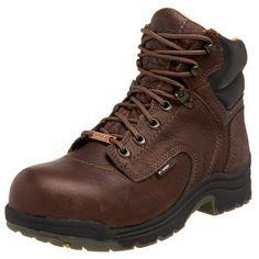 Timberland PRO Women's Titan Waterproof Boot                                 Leather                    Rubber sole                    Lightweight                    Steel toe
