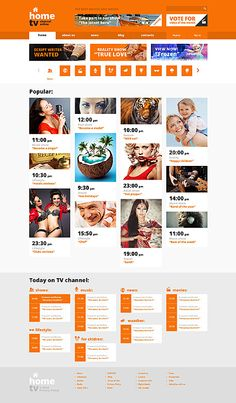 Template 50098 - Home Tv  Responsive Website Template