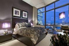 Gray & Purple Bedroom