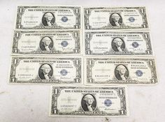 1935 1 One Dollar Bill Blue Seal Silver Certificate circulated Currency Note #US Mint #silver #cert #one #dollar #bill #note #currency #paper #money