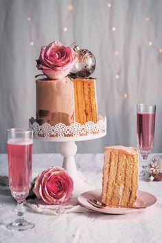 Rosé Champagne chiffon cake is the pinnacle of dessert elegance. It might look intimidating and take a little effort, but is definitely worth it! It's one of the lightest and most delicious cakes you'll ever taste, and is absolutely perfect for the end of a festive dinner.