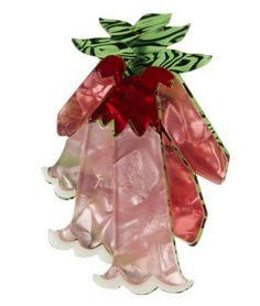 Erstwilder Pretty in Pink Brooch Vintage Inspired Outfits, Retro Outfits, Pretty In Pink, 50s Vintage, Flower Brooch, Resin Jewelry, Vintage Accessories, Beautiful Necklaces, Jewelry Design