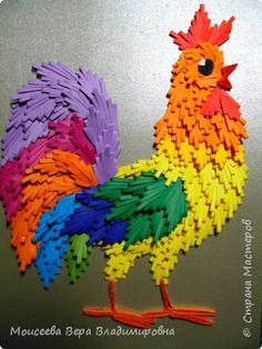 How to make cock from quilling paper - Art & Craft Ideas