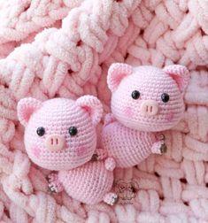 Mesmerizing Crochet an Amigurumi Rabbit Ideas. Lovely Crochet an Amigurumi Rabbit Ideas. Chat Crochet, Crochet Mignon, Crochet Pig, Crochet Motifs, Crochet Doll Pattern, Crochet Patterns Amigurumi, Crochet Dolls, Free Crochet, Crochet Mermaid