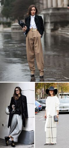 Theres something about wearing ultra wide leg pants that makes you feels very avant-garde. I...