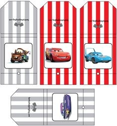 Cars lollipop covers