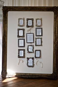 lovely - made up of large frame and smaller frame per table