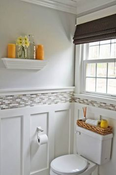 bathroom-wainscoting-with-tile-above - Classic Home Improvements