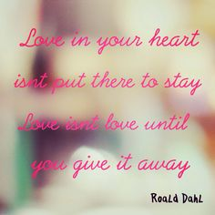 love quote from Esio Trot by Roald Dahl