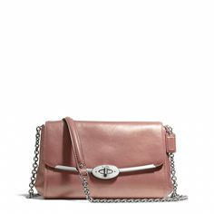Coach :: MADISON CHAIN CROSSBODY IN METALLIC LEATHER I love the rose gold! So pretty