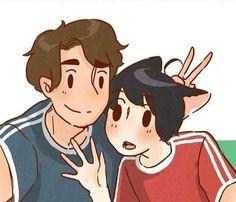Neko Boy, Bl Comics, Hey You, Anime Kawaii, People Art, All Anime, Manga, Cat Ears, Pikachu