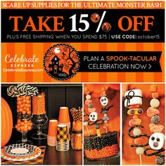 Get Halloween ready with Celebrate Express; 15% off and free shipping through Halloween! #spon