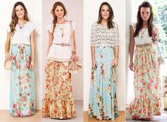 Gorgeous Pentecostal spring skirts. I want one of each please!