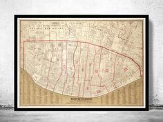Old map of Saint Louis City St Louis 1870 - product image