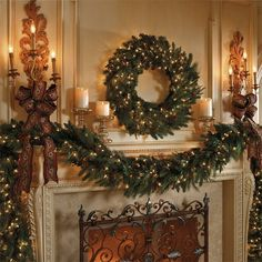 This Christmas Mantle Decor Just Glows With Perfection!