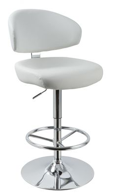 Modrest T1034 - Eco-Leather Contemporary Barstool VGCBT1034N-WHTProduct:12899 Features:Contemporary Bar StoolChrome Plated Adjustable Pneumatic BaseUpholstered in Eco-LeatherSturdy Base and Foot SupportSwivel TopColor: WhiteSold as 1 chair per boxDimensions:Stool : W20