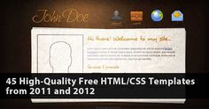 45 High Quality Free HTML/CSS Templates from 2011 and 2012 Photo