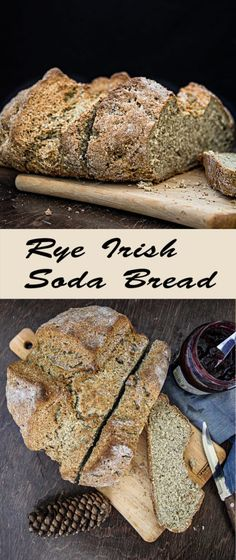"This Rye Irish Soda Bread is very quick and easy to make and full of flavour. Plus, made only with 5 ingredients. No oil no butter. A perfect breakfast bread, you can eat it with some butter or jam. And you never know, this might be your best ""breakfast bread"" ever.  #Eggfree #Vegetarian"