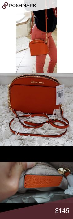 Michael Kors Crossbody Bag Emmy purse NWT NWT Michael Kors crossbody bag purse Emmy tangerine Michael Kors Bags Crossbody Bags #stellasaksa