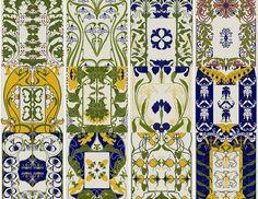 12 Art Nouveau Floral Patterns cross stitch pdfs