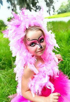 Flamingo costume make up