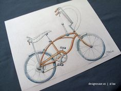 Schwinn Stingray Bicycle Print by designosaurus on Etsy, $10.00