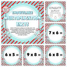 Winter Multiplication Smart Board FREEBIE