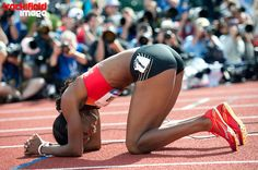 trackandfieldimage:  DEE DEE TROTTER , 400 meters , after winning her place on the 2012 US oOLYMPIC TEAM.