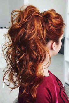 10 Stylish Hair Color Ideas Frisuren von Ombre und Balayage Ponytail Hairstyles with Curly Long Hair – Winter Hair Color Ideas – Farbige Haare Hair Day, New Hair, Red Hair Color, Red Colour, Burnt Orange Hair Color, Orange Brown Hair, Ginger Hair Color, Ombre Brown, Black Ombre