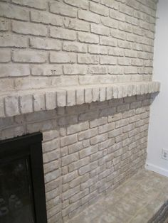 TUTORIAL: How to Paint a Brick Fireplace : Thrift Diving Blog